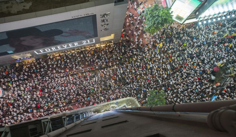 Hong Kong sees massive anti-government protests.