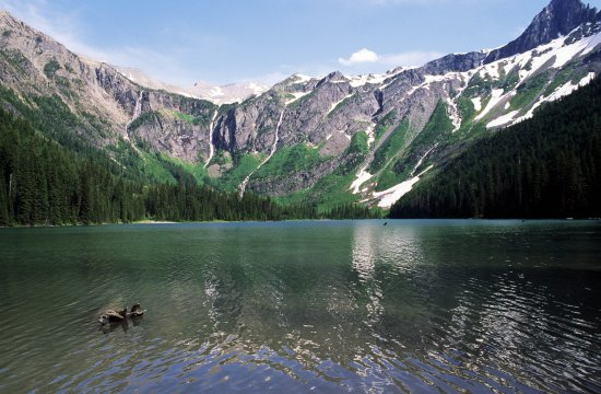 UNITED STATES - CIRCA 2003: Avalanche Lake, Glacier National Park (UNESCO World Heritage List, 1995), Montana, United States of America. (Photo by DeAgostini/Getty Images)